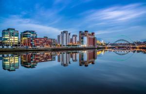 NewcastleGateshead Quays daytime