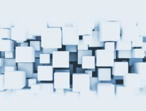 3D blue cubes background
